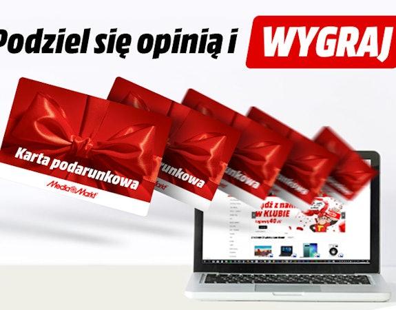 Karta podarunkowa Media Markt do 500 zł za opinię!
