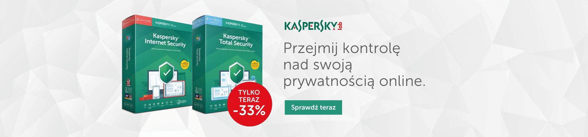 33% taniej na produkty Kaspersky