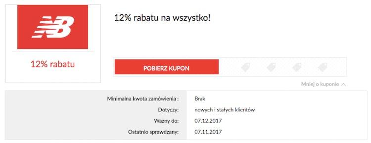 autentyczny przedstawianie zamówienie online New Balance kod rabatowy listopad 2019 | 15%
