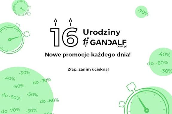 16. urodziny Gandalf! Kod rabatowy na każdy dzień